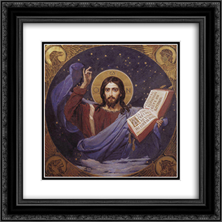 Christ Almighty 20x20 Black or Gold Ornate Framed and Double Matted Art Print by Viktor Vasnetsov