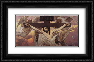 Crucified Christ 24x16 Black or Gold Ornate Framed and Double Matted Art Print by Viktor Vasnetsov