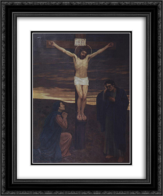 Crucifixion 20x24 Black or Gold Ornate Framed and Double Matted Art Print by Viktor Vasnetsov