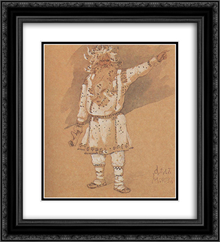Ded Moroz 20x22 Black or Gold Ornate Framed and Double Matted Art Print by Viktor Vasnetsov