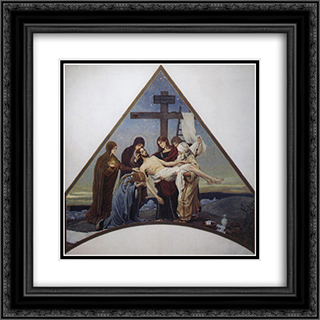 Deposition 20x20 Black or Gold Ornate Framed and Double Matted Art Print by Viktor Vasnetsov
