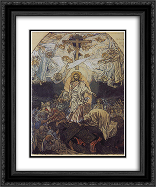 Descent into Hell 20x24 Black or Gold Ornate Framed and Double Matted Art Print by Viktor Vasnetsov