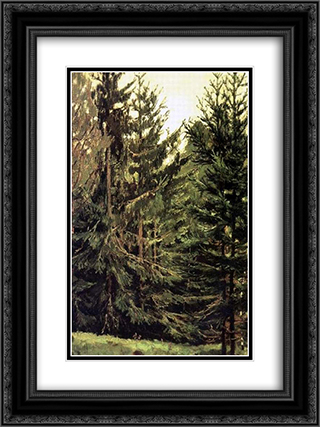 Edge of the spruce forest 18x24 Black or Gold Ornate Framed and Double Matted Art Print by Viktor Vasnetsov