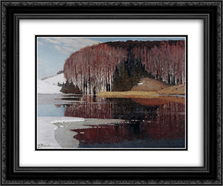 Spring Waters 24x20 Black or Gold Ornate Framed and Double Matted Art Print by Vilhelms Purvitis