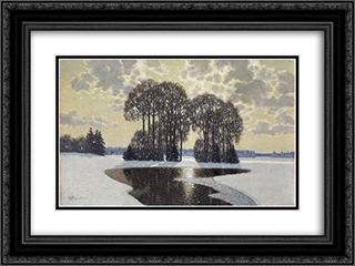 Winter 24x18 Black or Gold Ornate Framed and Double Matted Art Print by Vilhelms Purvitis