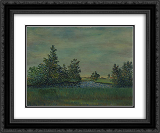 Landscape from Liminka 24x20 Black or Gold Ornate Framed and Double Matted Art Print by Vilho Lampi