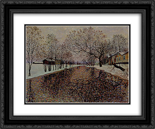 Limingan joki [View of Liminka] 24x20 Black or Gold Ornate Framed and Double Matted Art Print by Vilho Lampi