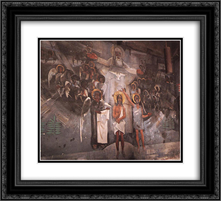 Baptism of Christ 22x20 Black or Gold Ornate Framed and Double Matted Art Print by Vilmos Aba Novak