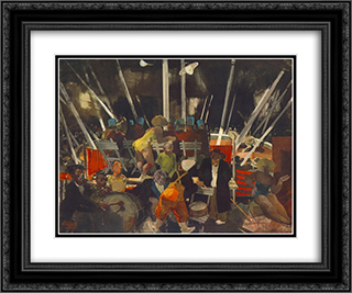 Circus 24x20 Black or Gold Ornate Framed and Double Matted Art Print by Vilmos Aba Novak