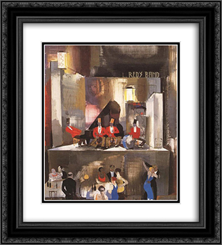 Red's Band 20x22 Black or Gold Ornate Framed and Double Matted Art Print by Vilmos Aba Novak