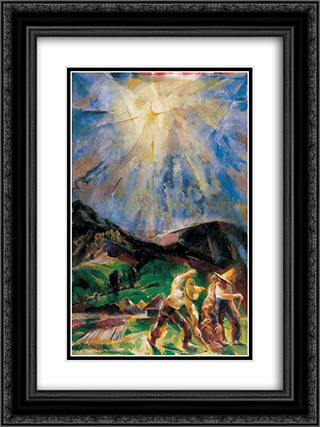 The Light 18x24 Black or Gold Ornate Framed and Double Matted Art Print by Vilmos Aba Novak