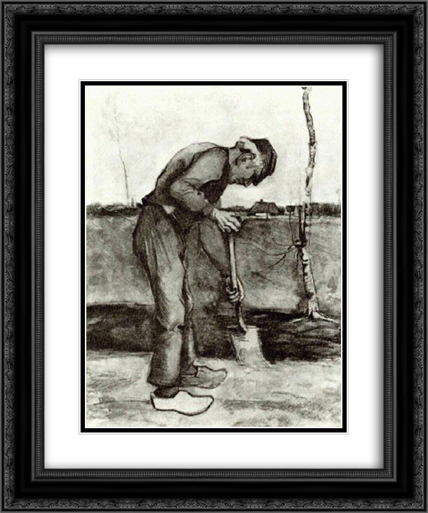 Digger 20x24 Black or Gold Ornate Framed and Double Matted Art Print by Vincent van Gogh