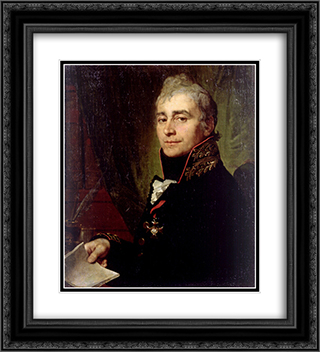 Alexander Fedoseevich Bestuzhev 20x22 Black or Gold Ornate Framed and Double Matted Art Print by Vladimir Borovikovsky
