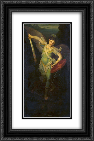 Archangel Michael 16x24 Black or Gold Ornate Framed and Double Matted Art Print by Vladimir Borovikovsky