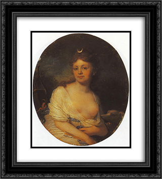 Countess Ekaterina Riboper 20x22 Black or Gold Ornate Framed and Double Matted Art Print by Vladimir Borovikovsky