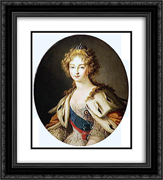Elisabeth Alexeievna Tsarina of Russia 20x22 Black or Gold Ornate Framed and Double Matted Art Print by Vladimir Borovikovsky
