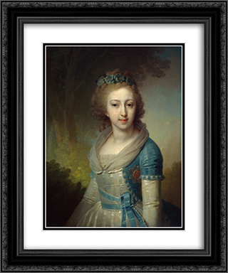 Grand Duchess Elena Pavlovna of Russia 20x24 Black or Gold Ornate Framed and Double Matted Art Print by Vladimir Borovikovsky
