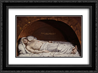 Jesus at the tomb 24x18 Black or Gold Ornate Framed and Double Matted Art Print by Vladimir Borovikovsky