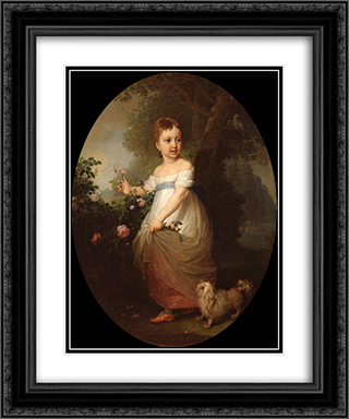 Naryshkina Elena 20x24 Black or Gold Ornate Framed and Double Matted Art Print by Vladimir Borovikovsky