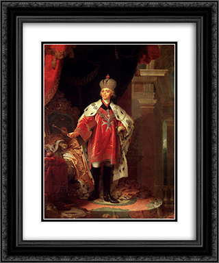 Paul I 20x24 Black or Gold Ornate Framed and Double Matted Art Print by Vladimir Borovikovsky