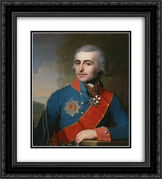 Portrait of General adjutant Count Pyotr Tolstoy 20x22 Black or Gold Ornate Framed and Double Matted Art Print by Vladimir Borovikovsky
