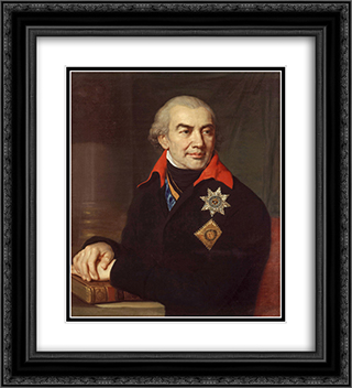 Portrait G.S. Volokonsky 20x22 Black or Gold Ornate Framed and Double Matted Art Print by Vladimir Borovikovsky