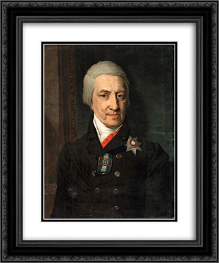 Portrait of Koshelev 20x24 Black or Gold Ornate Framed and Double Matted Art Print by Vladimir Borovikovsky