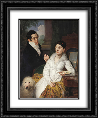 Portrait of A. G. and A. A. Lobanov Rostovsky 20x24 Black or Gold Ornate Framed and Double Matted Art Print by Vladimir Borovikovsky