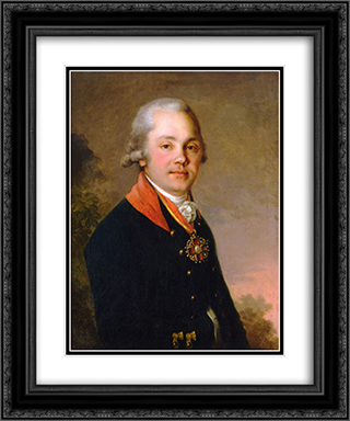 Portrait of Alexander Dmitrievich Arseniev 20x24 Black or Gold Ornate Framed and Double Matted Art Print by Vladimir Borovikovsky