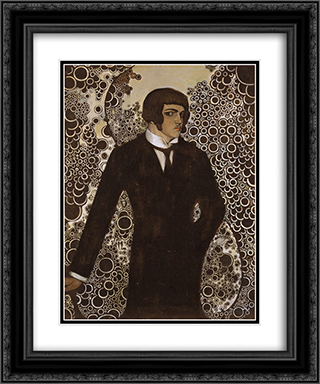 Self-portrait 20x24 Black or Gold Ornate Framed and Double Matted Art Print by Vsevolod Maksymovych