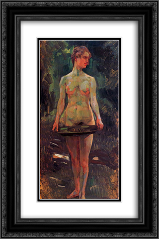 Pomona 16x24 Black or Gold Ornate Framed and Double Matted Art Print by Wilhelm Trubner