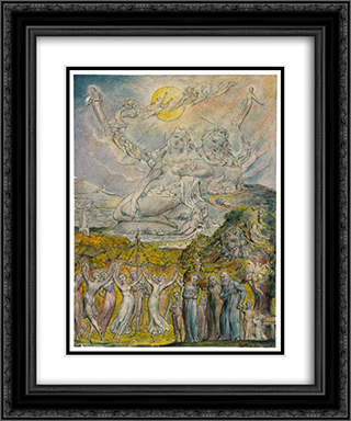 A Sunshine Holiday 20x24 Black or Gold Ornate Framed and Double Matted Art Print by William Blake
