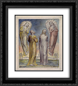 Andrew, Simon Peter Searching for Christ 20x22 Black or Gold Ornate Framed and Double Matted Art Print by William Blake