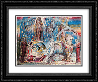 Beatrice 24x20 Black or Gold Ornate Framed and Double Matted Art Print by William Blake