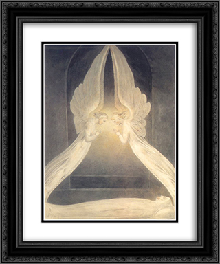 Christ in the Sepulchre 20x24 Black or Gold Ornate Framed and Double Matted Art Print by William Blake