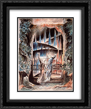 Dante and Virgil at the Gates of Hell 20x24 Black or Gold Ornate Framed and Double Matted Art Print by William Blake