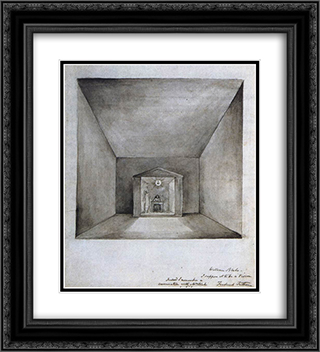 Elisha In The Chamber On The Wall 20x22 Black or Gold Ornate Framed and Double Matted Art Print by William Blake