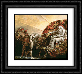 God Judging Adam 22x20 Black or Gold Ornate Framed and Double Matted Art Print by William Blake