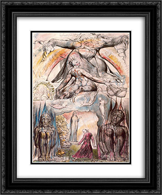 Illustration to Dante's Divine Comedy, Hell 20x24 Black or Gold Ornate Framed and Double Matted Art Print by William Blake