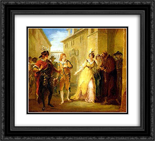 A Scene from Twelfth Night 22x20 Black or Gold Ornate Framed and Double Matted Art Print by William Hamilton