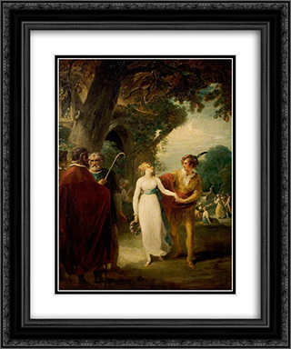 A Winter's Tale', Act IV, Scene 3, the Shepherd's Cot 20x24 Black or Gold Ornate Framed and Double Matted Art Print by William Hamilton