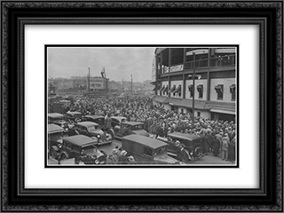 Wrigley Field Vintage 24x18 Black or Gold Ornate Framed and Double Matted Art Print by Stadium Series