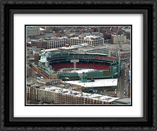 Fenway Park in Winter 24x20 Black or Gold Ornate Framed and Double Matted Art Print by Stadium Series