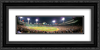 Fenway Park 24x12 Black or Gold Ornate Framed and Double Matted Art Print by Stadium Series