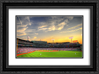 Fenway Park 24x18 Black or Gold Ornate Framed and Double Matted Art Print by Stadium Series
