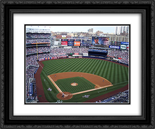 Yankee Stadium 24x20 Black or Gold Ornate Framed and Double Matted Art Print by Stadium Series