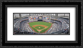 Yankee Stadium 24x14 Black or Gold Ornate Framed and Double Matted Art Print by Stadium Series