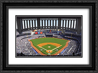 Yankee Stadium 24x18 Black or Gold Ornate Framed and Double Matted Art Print by Stadium Series