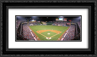 Angel Stadium of Anaheim 24x14 Black or Gold Ornate Framed and Double Matted Art Print by Stadium Series