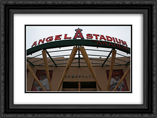 Angel Stadium of Anaheim 24x18 Black or Gold Ornate Framed and Double Matted Art Print by Stadium Series